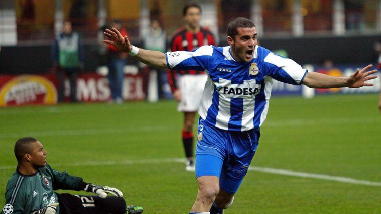 Walter Pandiani et les siens avaient crucifié le Milan AC 4-0 en 2004 après avoir perdu 4-1 à l'aller. (PHILIPPE DESMAZES / AFP)