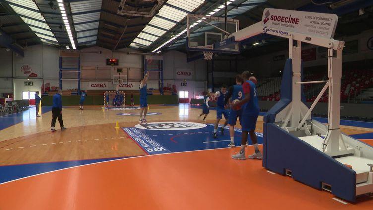 Les joueurs professionnels de basket de Caen ne reprendront pas les matchs avant la fin du confinement (France 3)