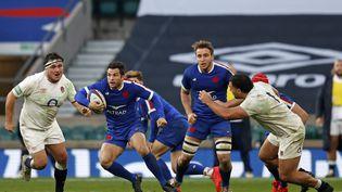 Brice Dulin, l'une des grandes satisfactions françaises face à l'Angleterre  (ADRIAN DENNIS / AFP)