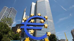 Le siège de la Banque centrale européenne, photographié le 3 janvier 2014 à Francfort (Allemagne). (DANIEL ROLAND / AFP)