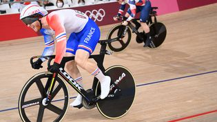 Le cycliste françaisSébastien Vigier aux Jeux Olympiques de Tokyo le 5 août 2021. (PETER PARKS / AFP)