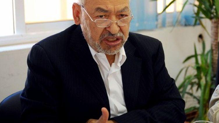 Rached Ghannouchi, dirigeant du parti Ennahda. (FETHI BELAID / AFP)