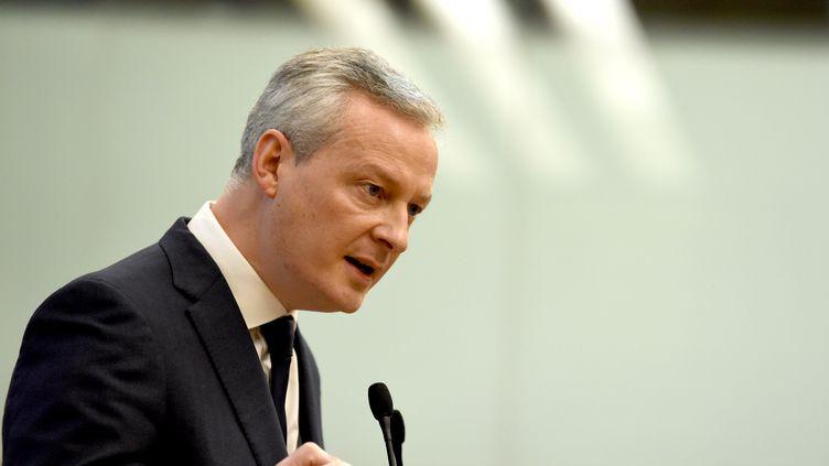 Le ministre de l'Economie, Bruno Le Maire, le 22 janvier 2018, devant l'Assemblée nationale. (ERIC PIERMONT / AFP)