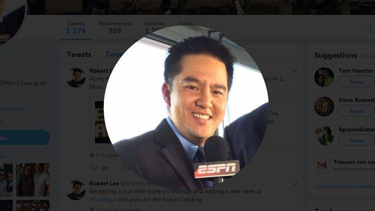 Capture d'écran de la photo du profil Twitter du commentateur sportif Robert Lee. (TWITTER / ROBERT LEE)