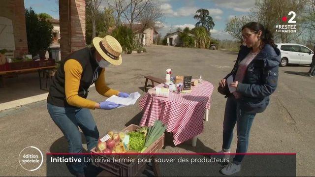 Coronavirus : un drive à la ferme