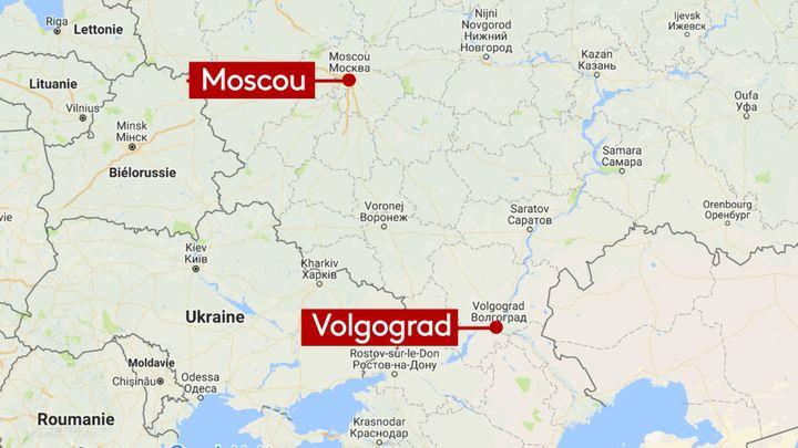 Moscou est à plus de 900km de Volgograd (GOOGLE MAP / RADIO FRANCE / STEPHANIE BERLU)