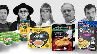 Du TGV aux rayons des supermarchés, de nombreux chefs prêtent leur image à des plats préparés. (BAPTISTE BOYER / FRANCEINFO)