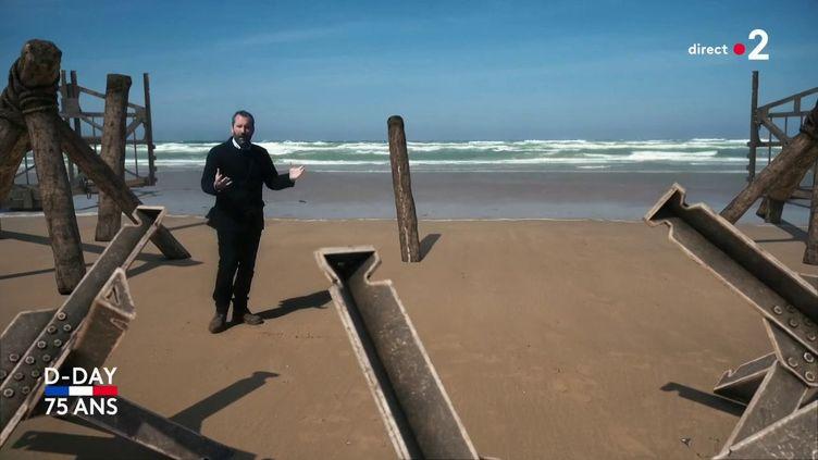 Nicolas Chateauneuf a recréé virtuellement une plage du débarquement. (FRANCE 2)