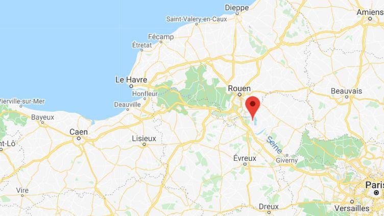 Le centre de détention de Val-de-Reuil (Eure). (CAPTURE D'ÉCRAN GOOGLE MAPS)