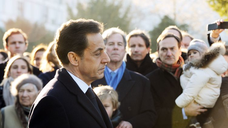Nicolas Sarkozy s'est rendu, le 15 janvier 2012, à Amboise pour célébrer les 100 ans de la naissance de Michel Debré. (ALAIN JOCARD / POOL / AFP)
