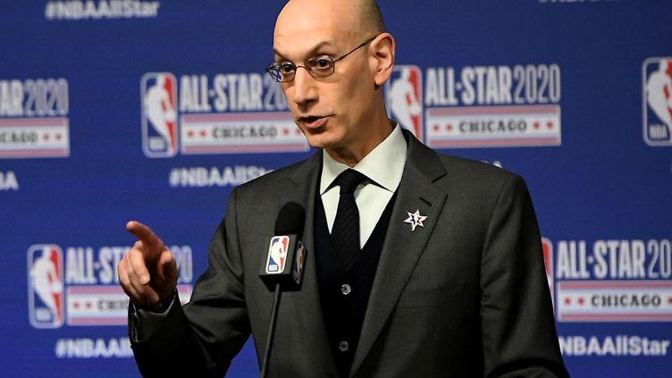 Adam Silver, le patron de la NBA. (STACY REVERE / GETTY IMAGES NORTH AMERICA)