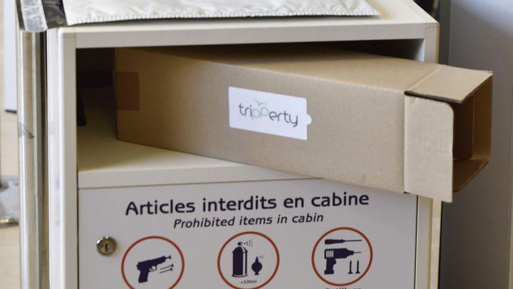 Une Trippertyboxpour y glisser les objets interdits en cabine. (GISÈLE BERMOND/AMP)