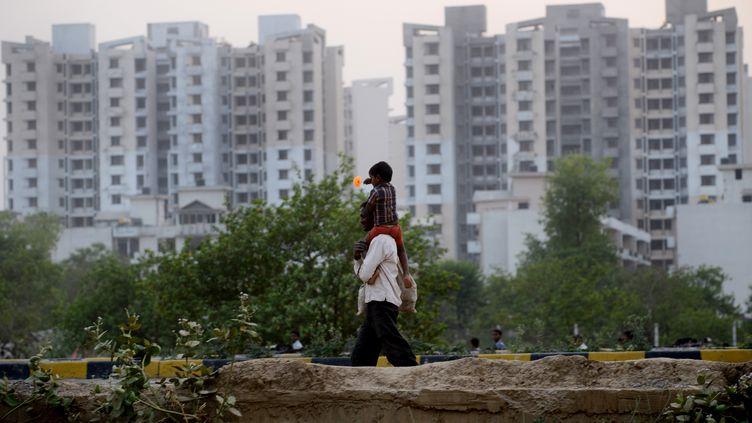 Une vue de Faridabad, à proximité de New Delhi (Inde) en avril 2015. (MONEY SHARMA / AFP)