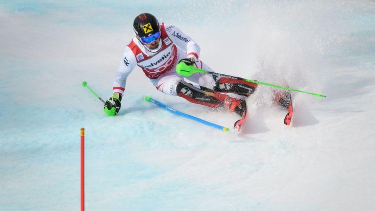 52e victoire en Coupe du monde pour Hirscher. (FABRICE COFFRINI / AFP)