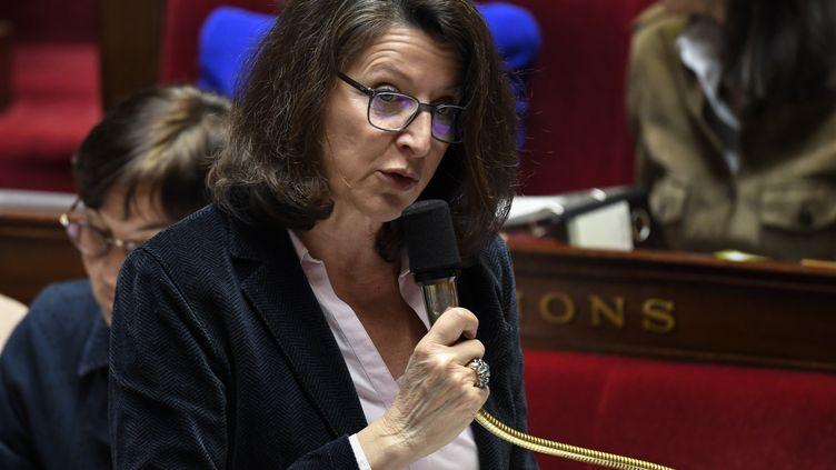 La ministre de la Santé Agnès Buzyn, lors des questions au gouvernement, à l'Assemblée nationale, le 20 mars 2019. (BERTRAND GUAY / AFP)