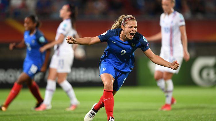 Eugénie Le Sommer lors de la victoire face à l'Islande à l'Euro 2017. (CARMEN JASPERSEN / DPA)