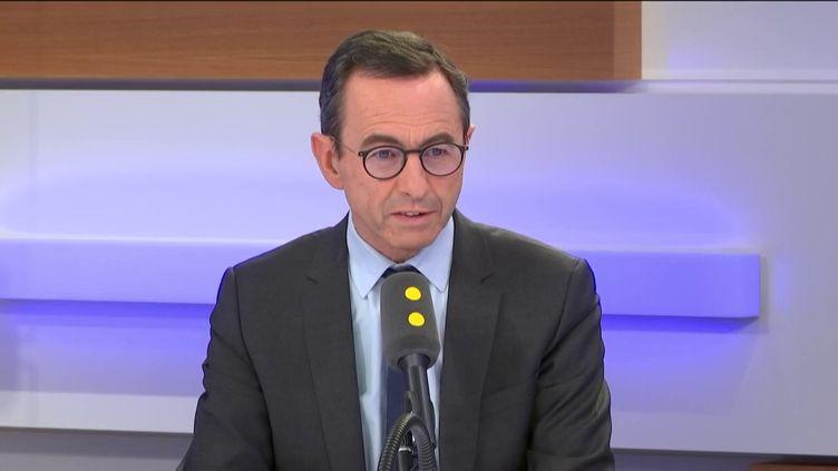 Bruno Retailleau, le président du groupe Les Républicains au Sénat. (FRANCEINFO / RADIOFRANCE)