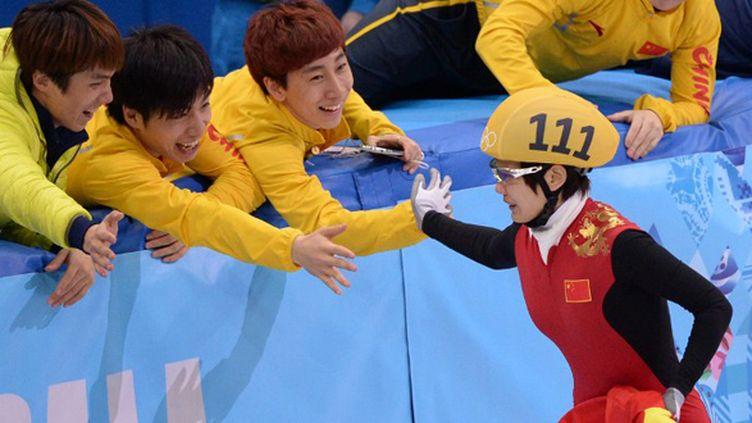 Li Jianrou championne olympique sur 500 m (ANDREJ ISAKOVIC / AFP)