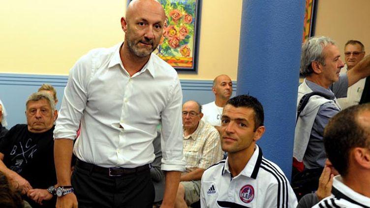 (Fabien Barthez dirigeant du club de Luzenac lors du dernier recours au tribunal © Maxppp)