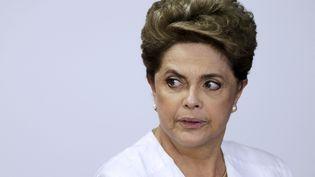 Dilma Rousseff, le 15 avril 2016, à Brasilia (Brésil). (UESLEI MARCELINO / REUTERS)