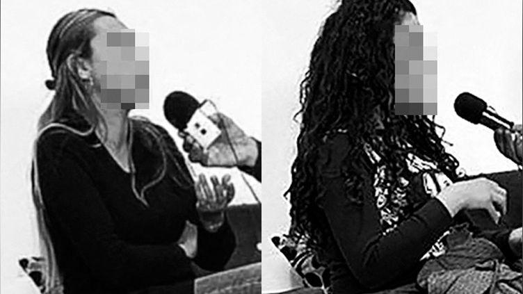 Saïda et Estelle,début mars 2021. Elles ont quitté la France avec leurs enfants pour rejoindre la Syrie,où elles sont aujourd'hui bloquées. (OMAR OUAHMANE / RADIO FRANCE)