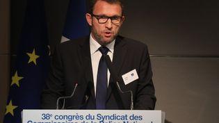 David Le Bars, secrétaire général du syndicat des commissaires de la police nationale. (LUDOVIC MARIN / AFP)