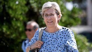 """La sénatrice Marie-Noëlle Lienemann à une réunion des """"frondeurs"""" du PS lors de l'université d'été du parti à La Rochelle, le 10 septembre 2016. (XAVIER LEOTY / AFP)"""