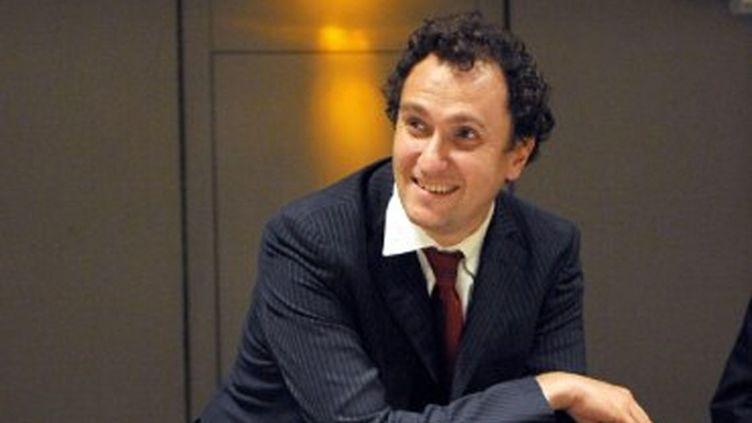 Vincent Feltesse, l'animateur de la campagne numérique de François Hollande, à Bordeaux en 2008 (JEAN-PIERRE MULLER / AFP)
