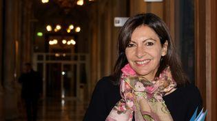 La maire de Paris et probable candidate socialiste à l'élection présidentielle de 2022, Anne Hidalgo, le 12 octobre 2021 (DELPHINE GOLDSZTEJN / MAXPPP)
