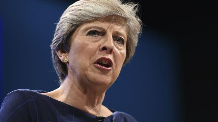 Theresa May doit s'adresser aux pays de l'Union européenne lundi 9 octobre. (OLI SCARFF / AFP)
