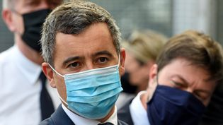 Le ministre de l'Intérieur, Gérald Darmanin, à Marseille (Bouches-du-Rhône), le 24 mai 2021. (NICOLAS TUCAT / AFP)