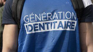 Un membre du groupe Génération Identitaire, à Paris, le 20 février 2021. (ANTOINE KREMER / HANS LUCAS / AFP)