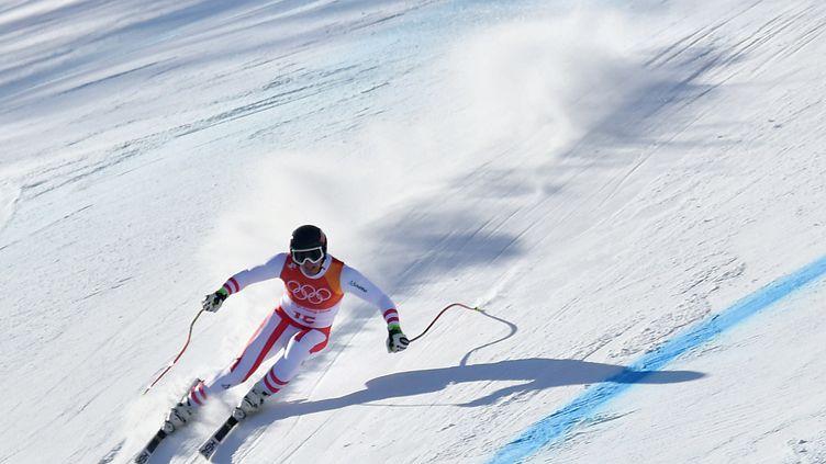 Matthias Mayer lors du Super G de PyeongChang (DIMITAR DILKOFF / AFP)