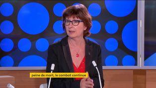 Cécile Coudriou, présidente d'Amnesty International France. (FRANCEINFO)