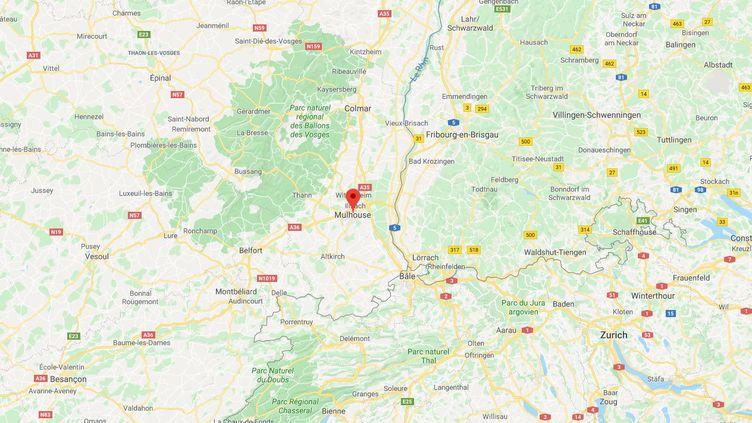 Carte de Mulhouse. (GOOGLE MAPS)
