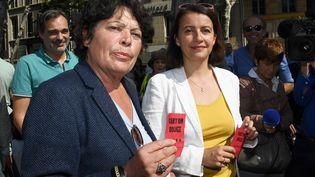 Michèle Rivasi avec Cécile Duflot à Marseille le 26 septembre 2016 (ANNE-CHRISTINE POUJOULAT / AFP)