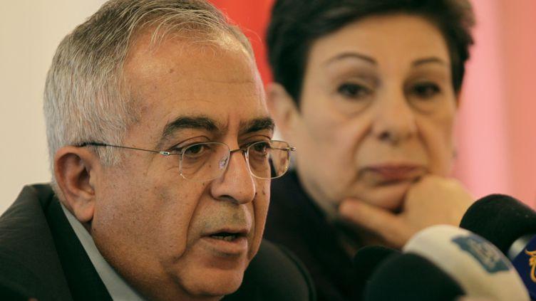 Salam Fayyad, le Premier ministre palestinien, photographié ici le 25 mars 2013, est démissionnaire de son poste depuis samedi 13 avril. (ABBAS MOMANI / AFP)