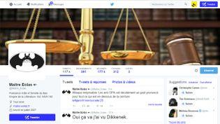 (C'est à cause d'un tweet lancé depuis son compte que l'avocat blogueur Maître Eolas est poursuivi pour diffamation © Capture d'écran)