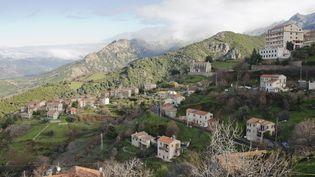 Le village de Cuttoli-Corticchiatto (Corse-du-Sud), le 19 janvier 2016. (THOMAS BAIETTO / FRANCETV INFO)