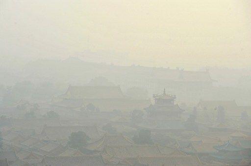 A Pékin, la Cité Interdite dans le smog, le 2 novembre 2013. (KE WEI / IMAGINECHINA)