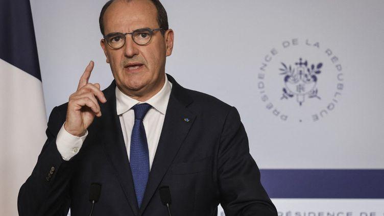 Jean Castex, le 8 septembre 2021, à Paris. (LUDOVIC MARIN / AFP)