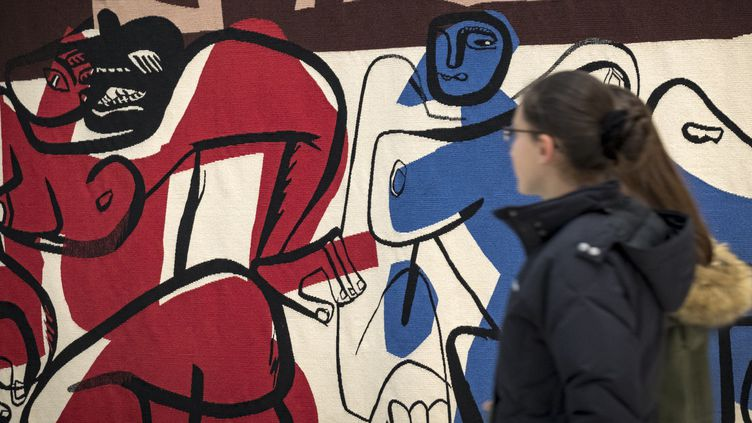 Une toile de Le Corbusier exposée au musée Soulages de Rodez en janvier 2018.  (Eric Cabanis / AFP)