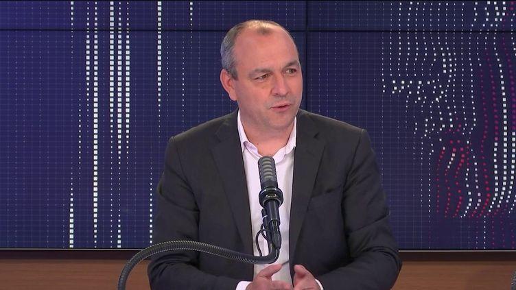 Laurent Berger, le secrétaire général de la CFDT sur franceinfo,jeudi 27 mai 2021. (FRANCEINFO / RADIOFRANCE)