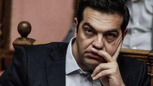 Le Premier ministre grec, Alexis Tsipras, au Parlement grec le 27 juin 2015.  (DIMITRI MESSINIS / SOOC)
