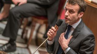 Emmanuel Macron, le 22 mars 2016 à Paris. (YANN KORBI / AFP)