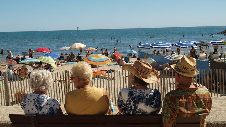 Sur une des plages de La Grande-Motte (Hérault), le 13 juillet 2012. (ARIANE NICOLAS / FTVI)