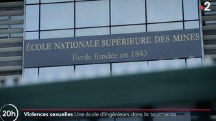 """Extrait d'un reportage du """"20 heures"""" de France 2 sur des faits de violences sexuelles àl'IMT Mines d'Alès (Gard), diffusé le 18 février 2021. (FRANCE 2)"""