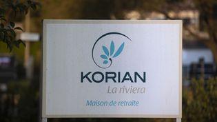 Le logo du groupe Korian, qui gère des établissements pour personnes âgées dépendantes. (SYSPEO/SIPA)
