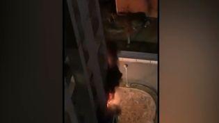 Quatre personnes, dont deux fillettes, ont perdu la vie dans l'incendie survenu jeudi 27 décembre, dans un immeuble d'habitation de Bobigny (Seine-Saint-Denis). Un feu probablement d'origine accidentelle. (FRANCE 3)