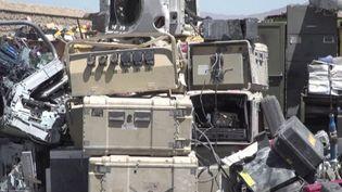 Afghanistan : les soldats américains laissent derrière eux des dépotoirs (Capture d'écran franceinfo)